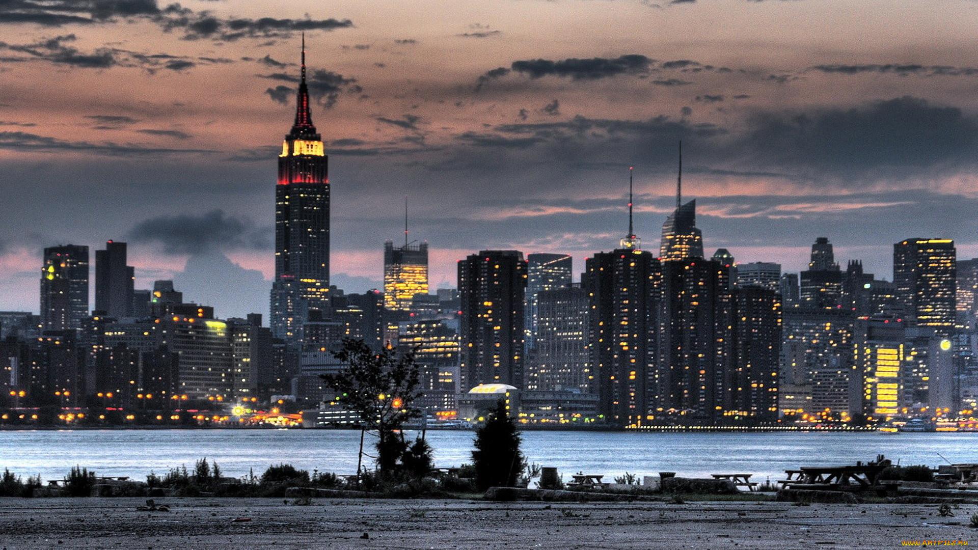 фотографии вечернего города оформлении чип-карты
